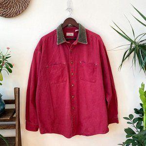 Vintage Red Denim L.L. Bean Chore Jacket